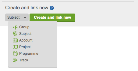 Create and link new